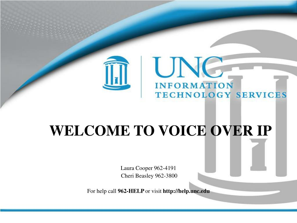 welcome to voice over ip l.