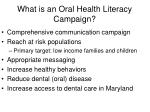 what is an oral health literacy campaign