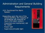 administration and general building requirements60