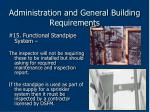 administration and general building requirements70