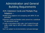 administration and general building requirements81