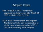 adopted codes34