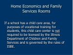 home economics and family services rooms170
