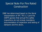 special note for fire rated construction87