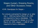 stages large dressing rooms and other accessory areas205