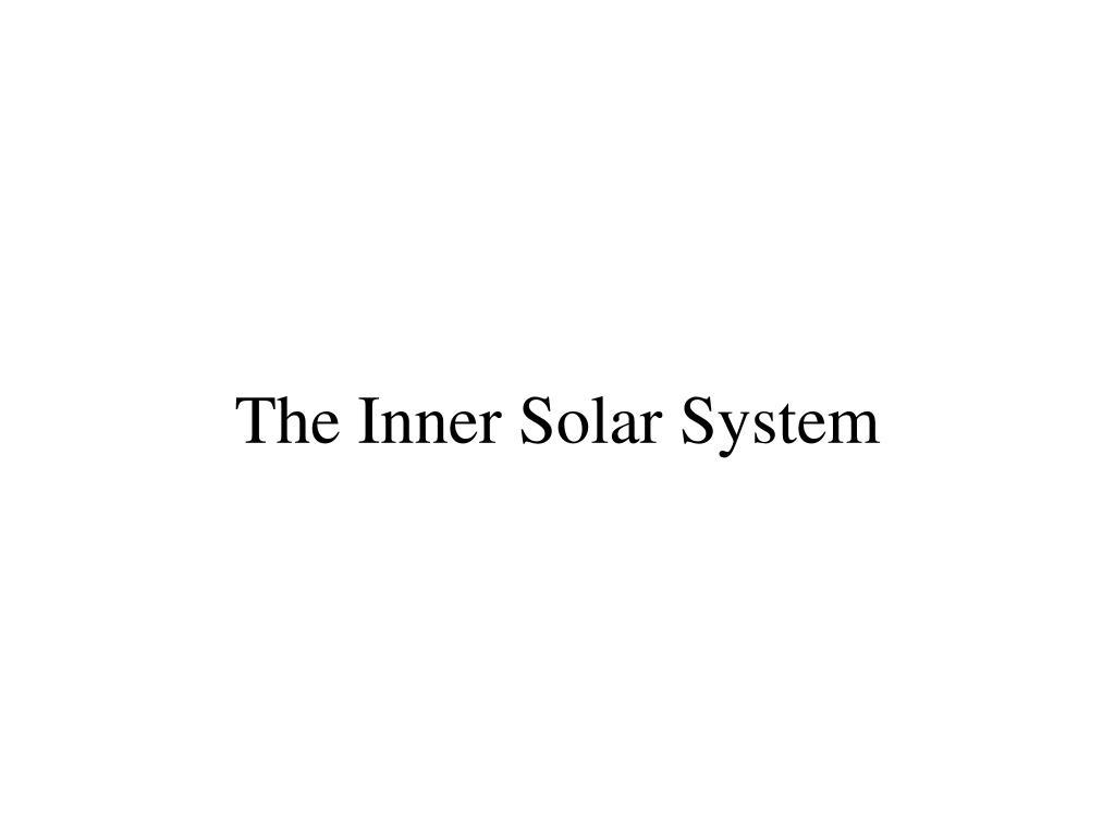 the inner solar system l.