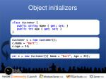 object initializers