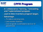 cpfr program
