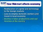 how wal mart affects economy