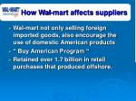 how wal mart affects suppliers31