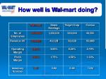 how well is wal mart doing