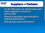 suppliers partners