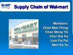 supply chain of wal mart