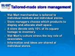 tailored made store management