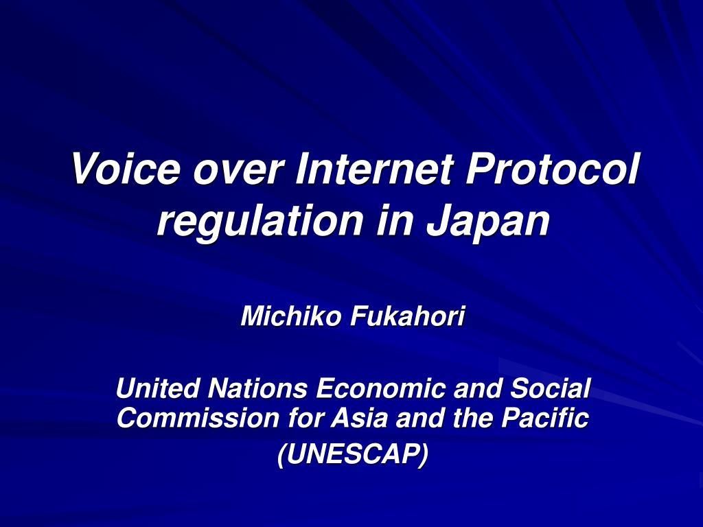 voice over internet protocol regulation in japan l.