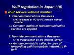 voip regulation in japan 10