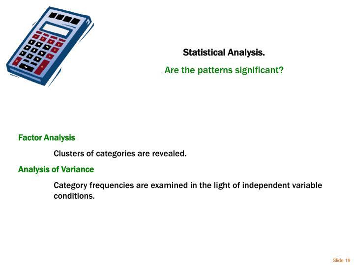 Statistical Analysis.