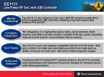 cc1111 low power rf soc with usb controller