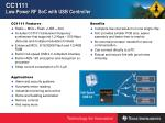 cc1111 low power rf soc with usb controller6
