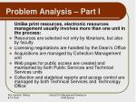 problem analysis part i