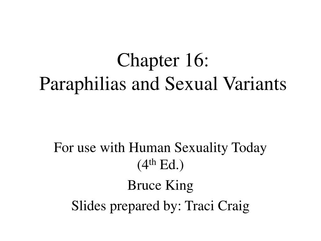 chapter 16 paraphilias and sexual variants l.