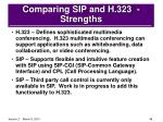 comparing sip and h 323 strengths