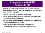 integration with ietf protocols 1