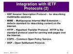 integration with ietf protocols 2