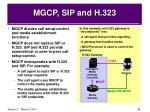mgcp sip and h 323