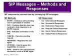sip messages methods and responses