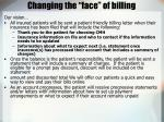 changing the face of billing