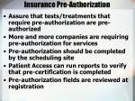 insurance pre authorization