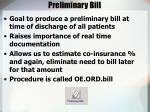 preliminary bill