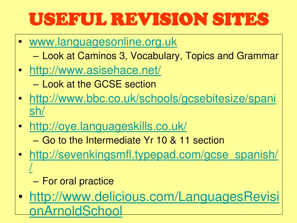 useful revision sites l.