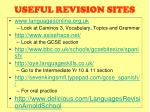 useful revision sites
