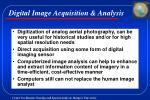 digital image acquisition analysis