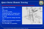 space borne remote sensing