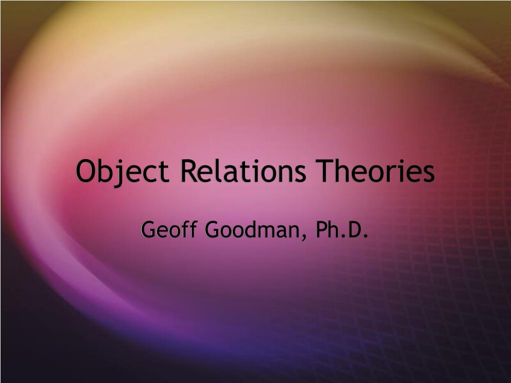 object relations theories l.