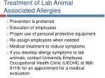 treatment of lab animal associated allergies