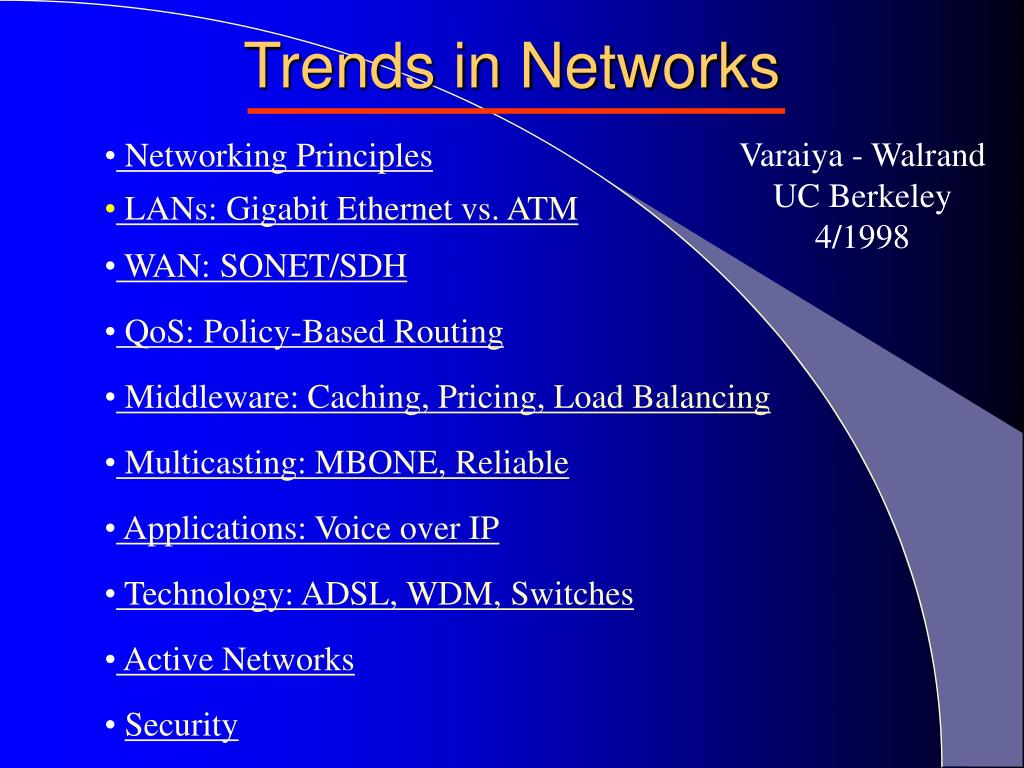 trends in networks l.