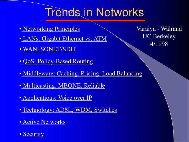Trends in networks2