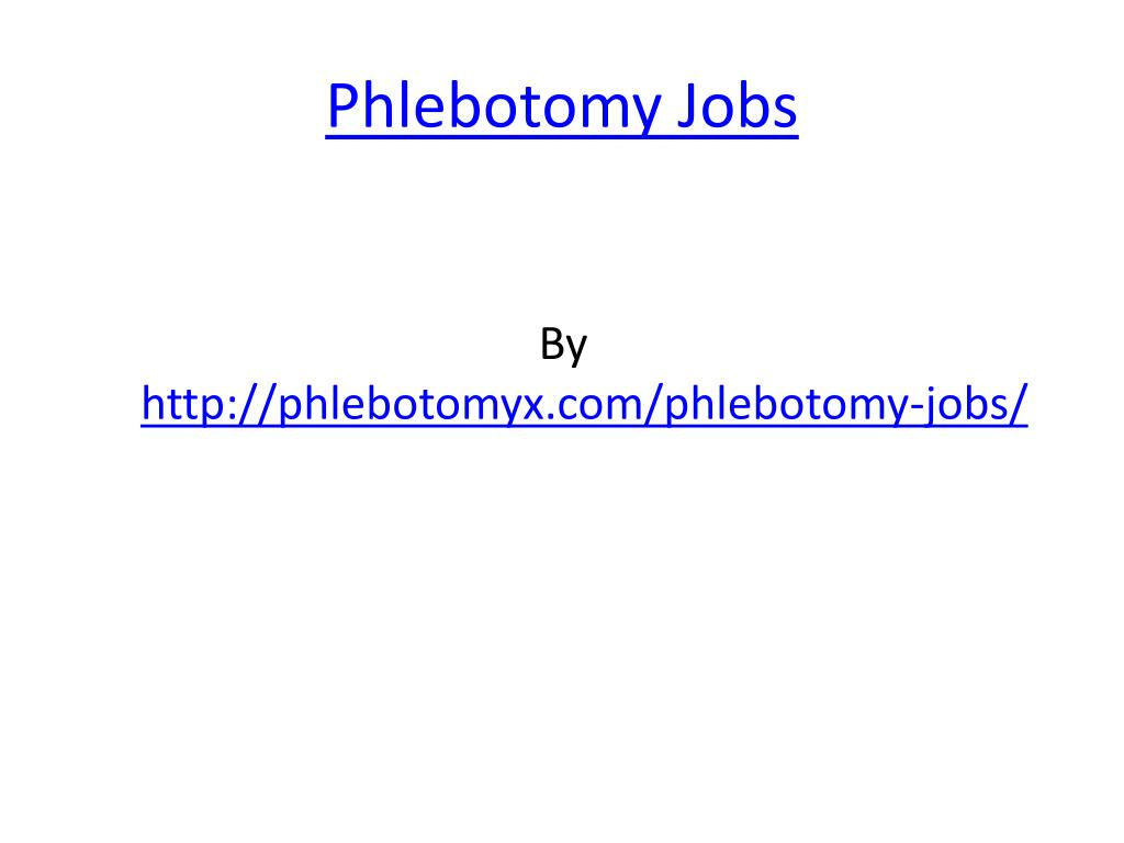 phlebotomy jobs l.