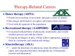 therapy related careers