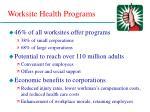 worksite health programs