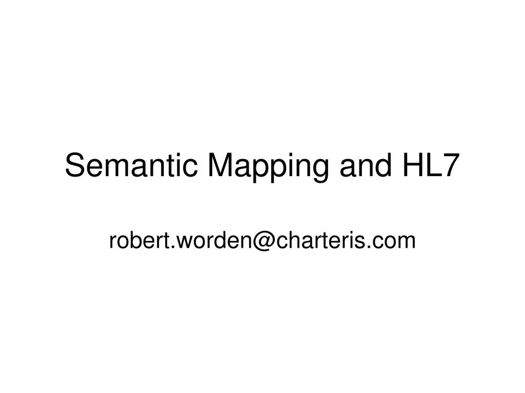 semantic mapping and hl7 l.