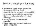 semantic mappings summary