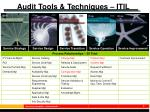 audit tools techniques itil