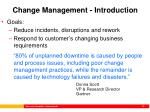 change management introduction