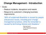 change management introduction