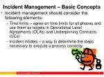 incident management basic concepts